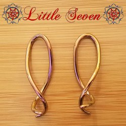 "Little Seven Niobium ""Squid"" Hanging Twists 12 Gauge 12g (Pair)"