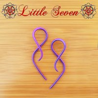 "Little Seven Niobium mini ""Goddess\"" Hanging Twists 12 Gauge 12g (Pair)"