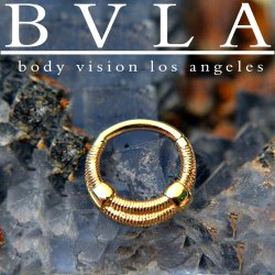 "BVLA 14kt Gold ""Annuli"" Septum Seam Ring 18 Gauge 16 Gauge 18g 16g Body Vision Los Angeles"