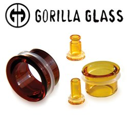 "Gorilla Glass Boro Bullet Holes 8 Gauge to 1 1/2"" (Pair)"