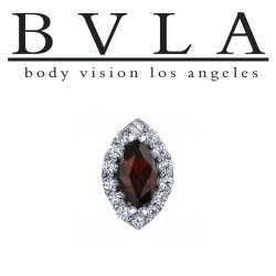 "BVLA 14kt Gold Marquise ""Altura"" Threaded End Dermal Top 18g 16g 14g 12g Body Vision Los Angeles"