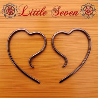 "Little Seven Niobium Small ""Erosica"" Hanging Designs 12 Gauge 12g (Pair)"