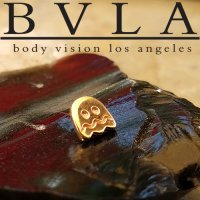BVLA 14kt Yellow White Rose Gold Pac-Man Sad Ghost Threaded 6mm End 18g 16g 14g 12g Body Vision Los Angeles