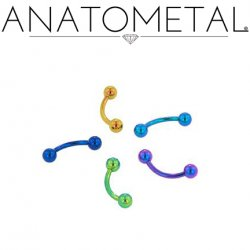 Anatometal Titanium Curved Barbell 16 gauge 16g